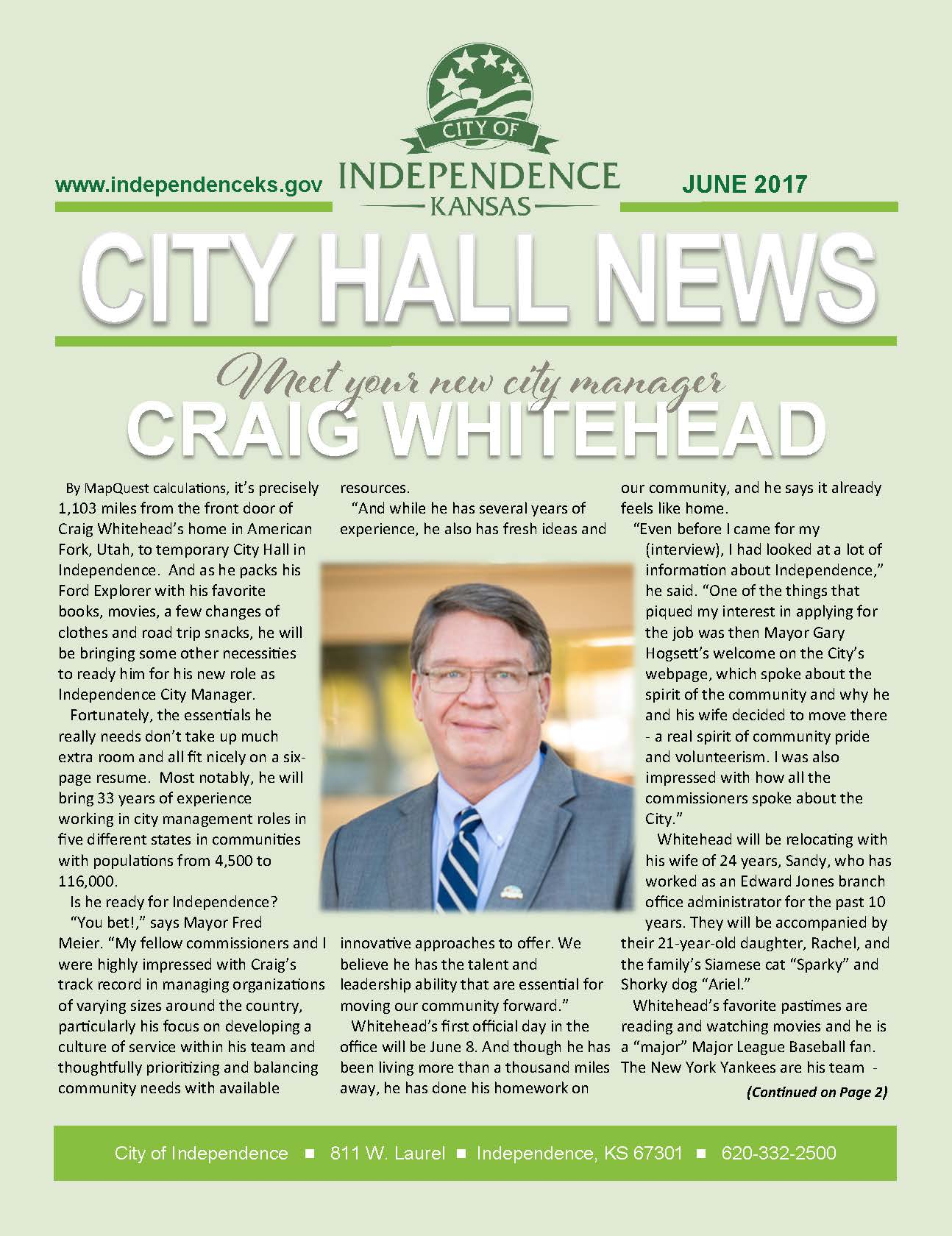 City of Independence June 2017 Newsletter