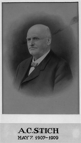 A.C. Stich, May 7, 1907-1909