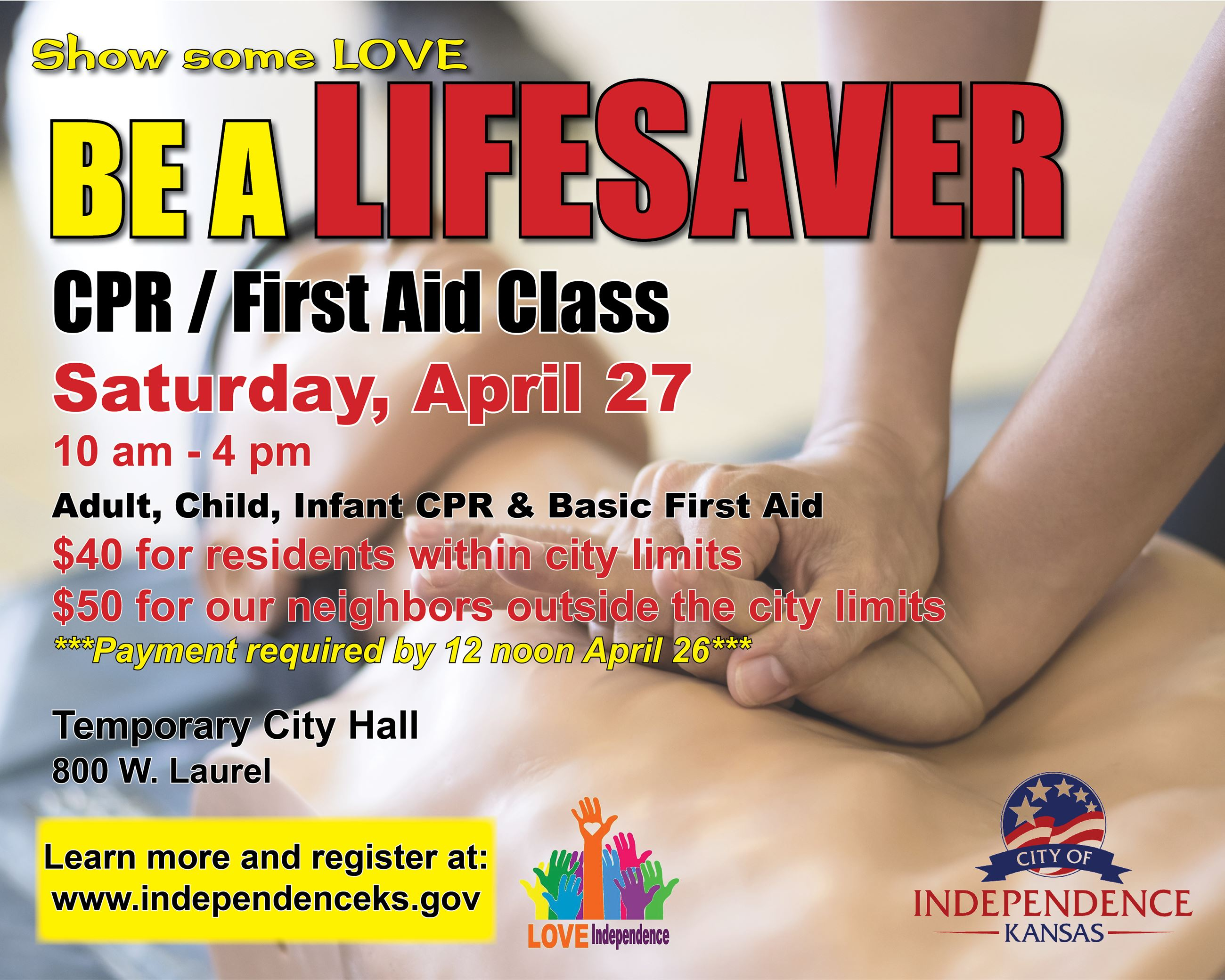 City of Indy CPR Class TV Channel Slide 04.27.2019